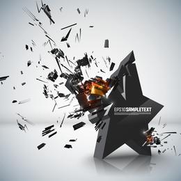 Gráficos tridimensionais explosivos 01 Vector