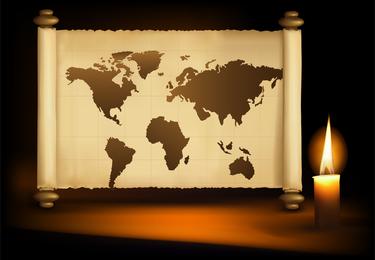 Kerzenlicht und Rollenvektor
