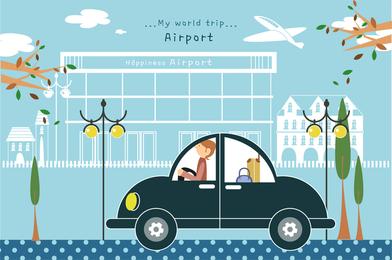 Viajes ilustrador vector lindo