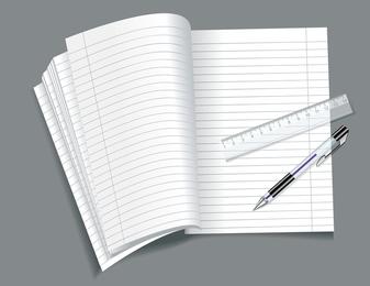 Open Notepad Vector 1