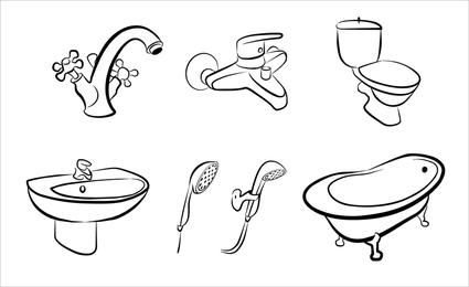 Bathroom Supplies 02 Vector