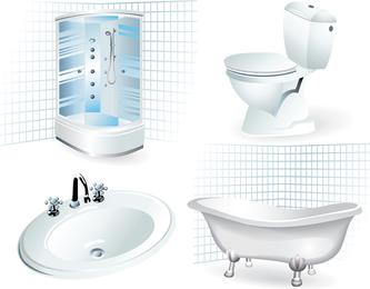 Bathroom Supplies 01 Vector