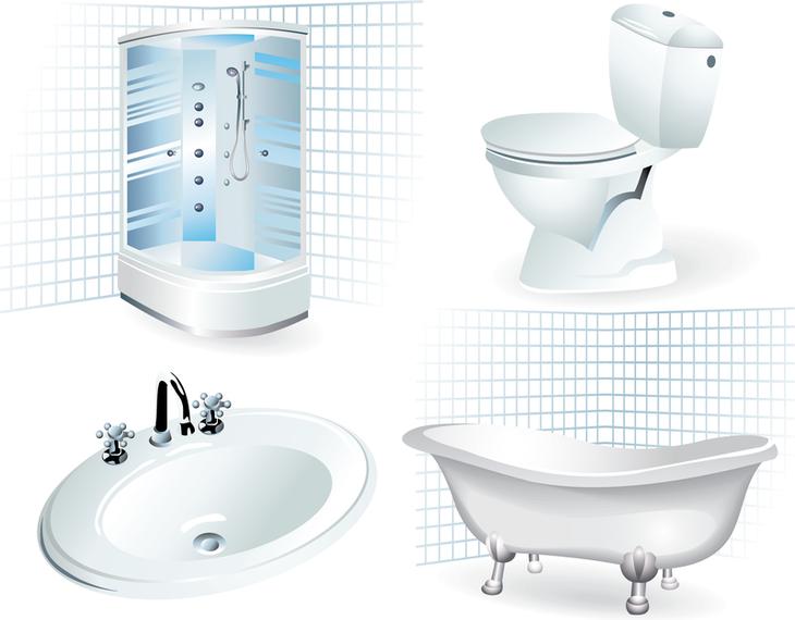 Bathroom Supplies Vector Vector Download - Bathroom supplies on line
