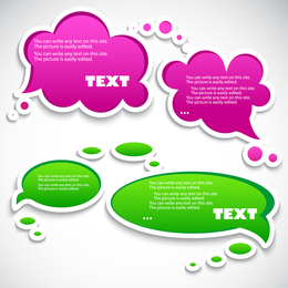 Text and dialog bubbles