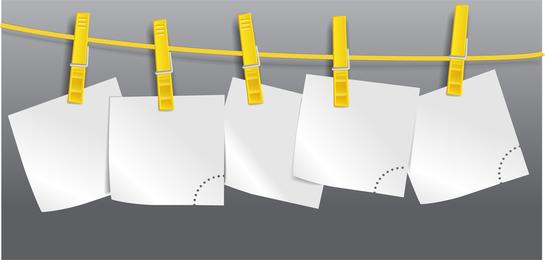 Cuerda en el papel en blanco 02 Vector
