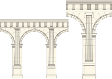 European Pillar Vector