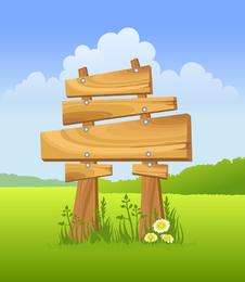 Ilustración de tablón de anuncios de madera