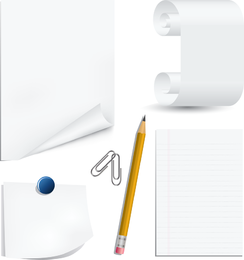 White Paper Clip And Pencil Clip Art