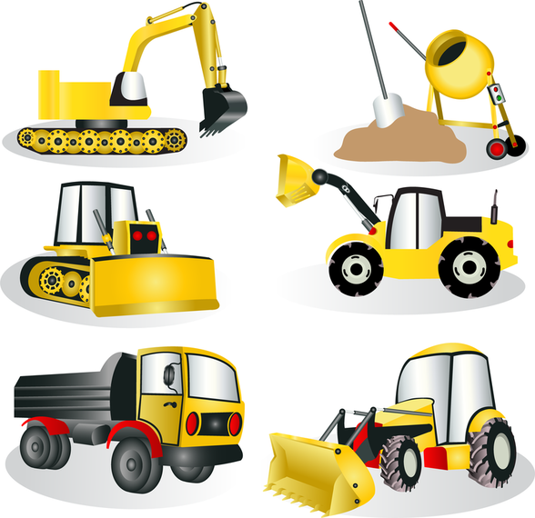Construction Site Equipment Vector - Vector download