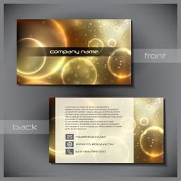 Astronomical business card template