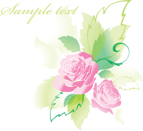 Beautiful Roses Greeting Cards 05 Vector