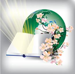 Caderno Com O Vetor De Terra