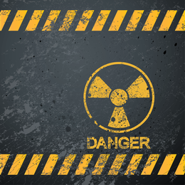 Vetor de sinais de aviso nuclear 04