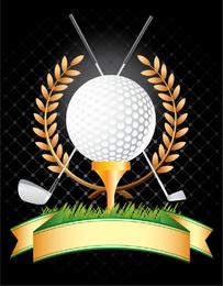 Golf Golf Clubs Wheat Vector