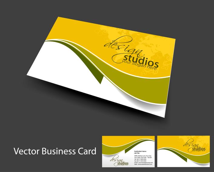 Brilliant Dynamic Business Card Template 05 Vector