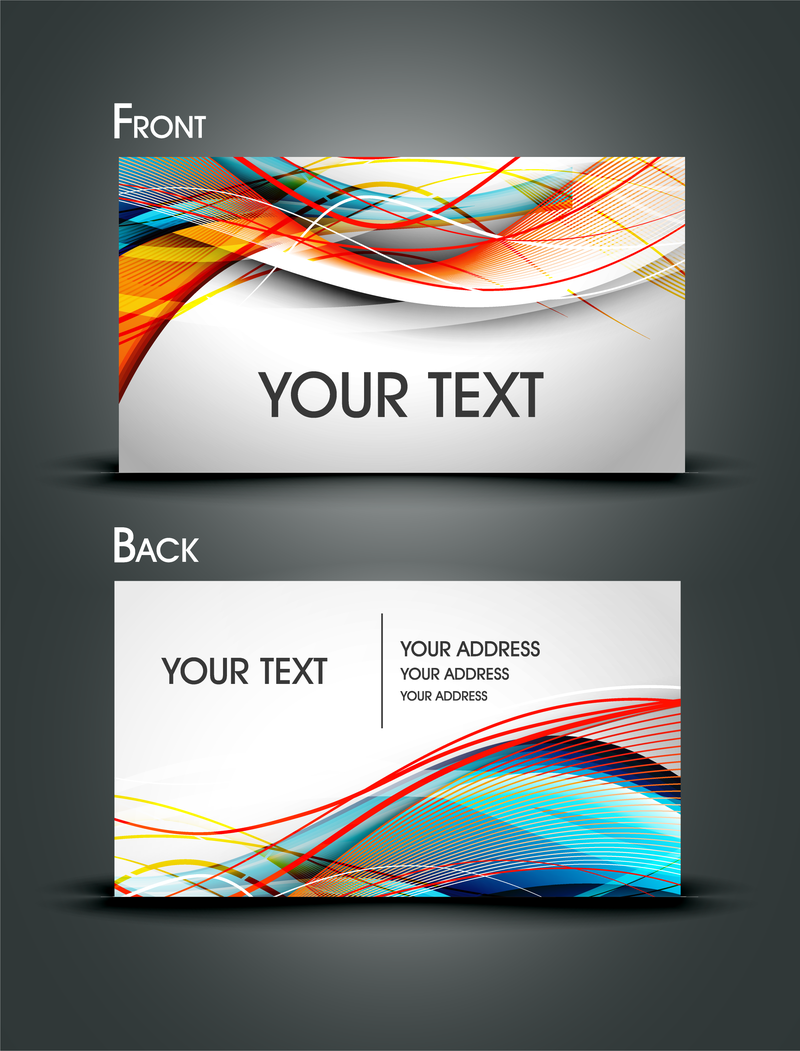 Dynamic lines of business card templates vector vector download for Business card template vector