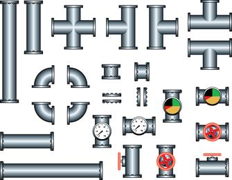 Vector de acero de tubo de hierro