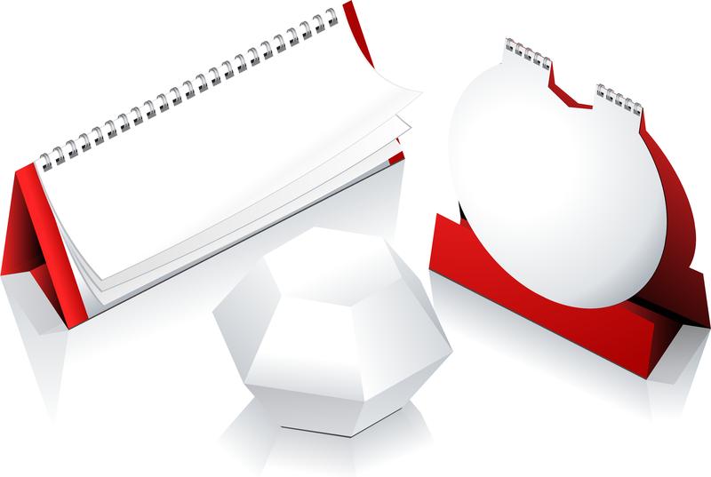 2012 Calendar Desk Calendar Model 03 Vector