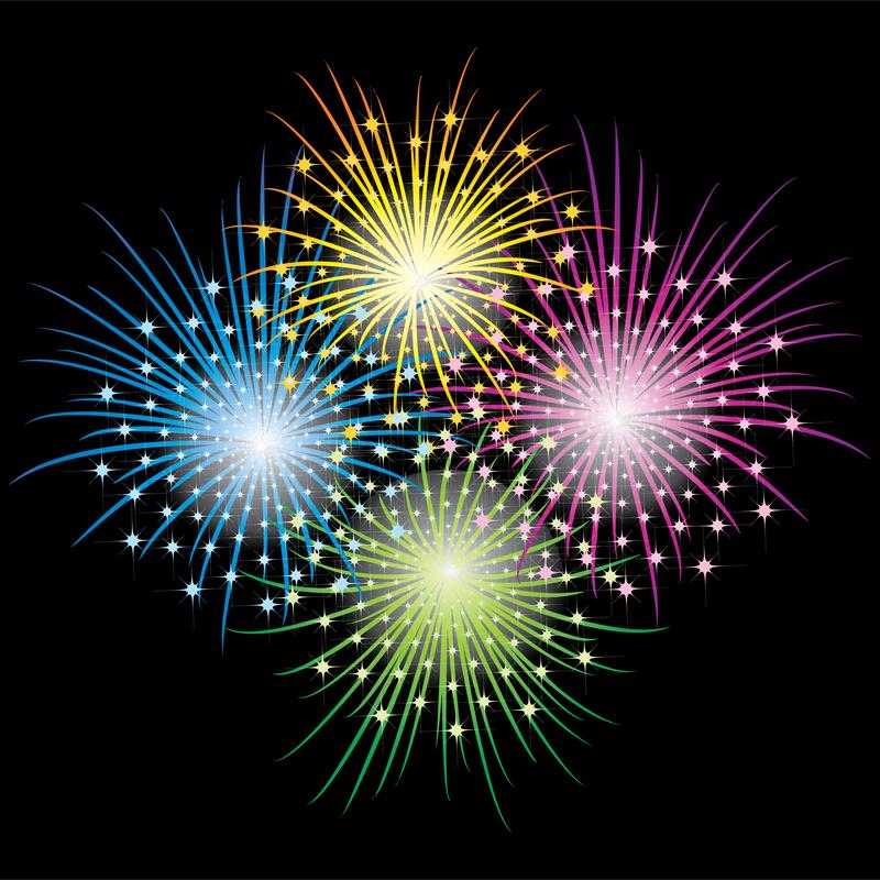 Vector 3 Brilliant Fireworks Fireworks Vector Download