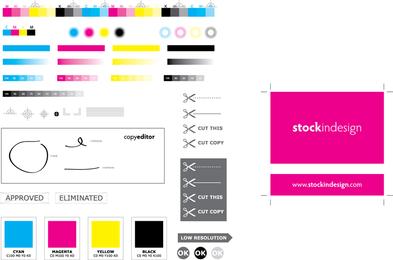 Vector estándar de valores de color Cmyk U200bu200b
