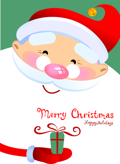 Vector Cute Santa Claus 4