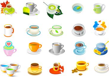 Pflanzen Tee und Kaffee Vektor