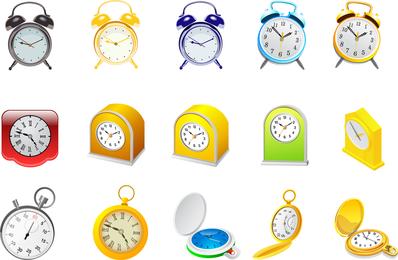 Despertador y vector de cronómetro