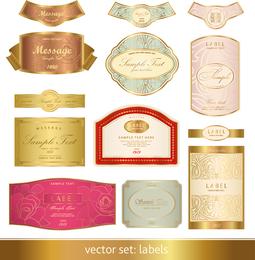 Gorgeous Classic Bottle Label 03 Vector