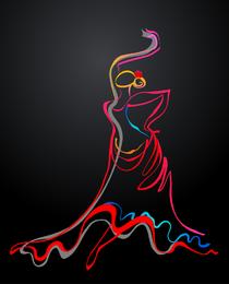 Cor dança 02 vector