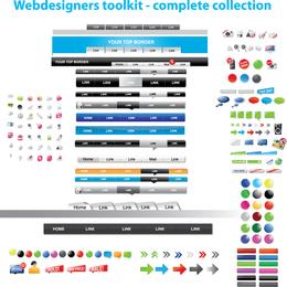 Web-Design-Elemente Vektor verwendet 2