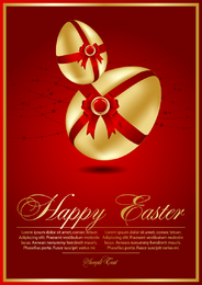 Beautiful Easter Cards 03 Vector