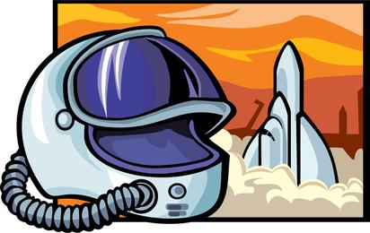 Vetor de cosmonauta 2