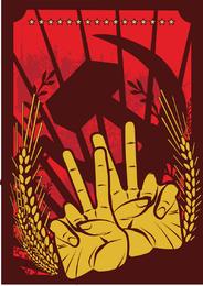 Revolución roja ilustrador vectorial