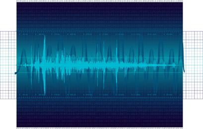 Vetor de onda sonora digital