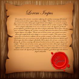 Madeira e papel velho vetor 2