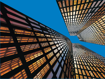 Look Up Highrise Buildings Vector