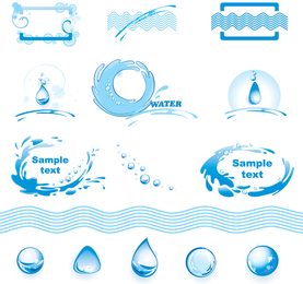 Water Theme Logo Graphics Vector