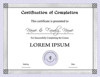 Three Certificate Design Vector