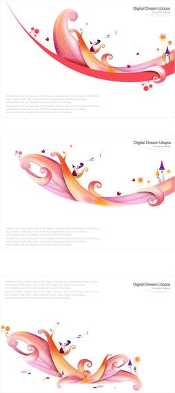 Vector Colorful Fairytale World