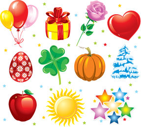 Beautiful Color Card Vector The Trend