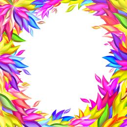 Vetor de forma de salgueiro colorido
