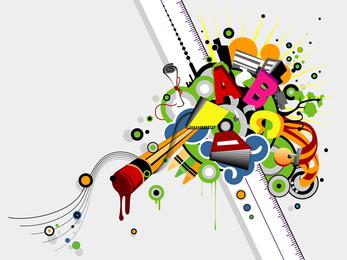 School Theme Vector 2