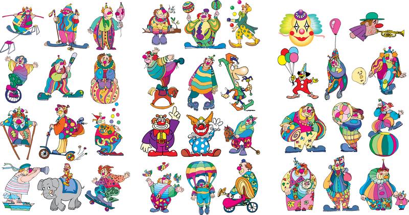 Clown Set Vector