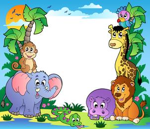 Vetor de imagens de animais fofos