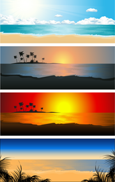 Beautiful Coastal Scenery 02 Vector