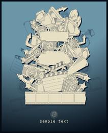 Moda intensiva Illustrator Vector 2 líneas