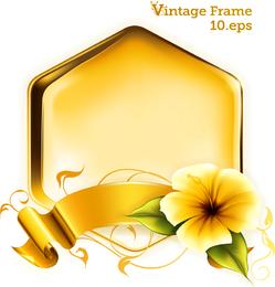 Vetor de gráficos decorativos de ouro