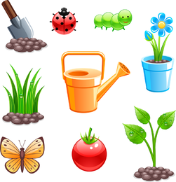 Planting Theme Vector