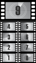 Digital Countdown Vector Film Titles