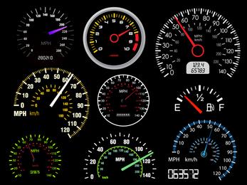 Vector de tabla de tasa de kilometraje de automóvil